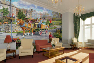 Step back in time with our Trevor Mitchell murals