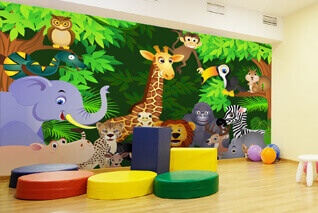 Brighten your nursery with a wall mural