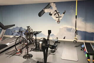 Brighten your gym with a mural