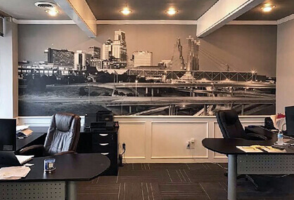 Brighten your office with a wallpaper mural