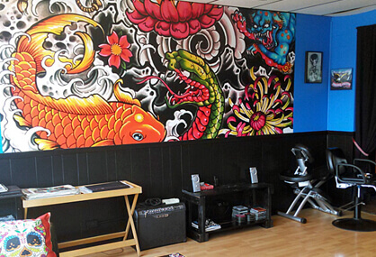 Inspire customers with a wall mural