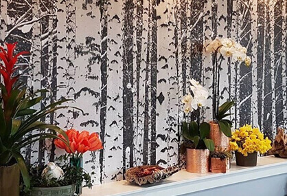 Brighten your shop with a wallpaper mural