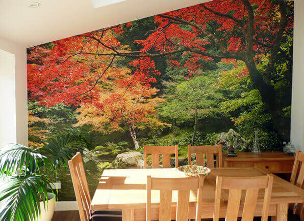 Autumn Woodland Colours mural