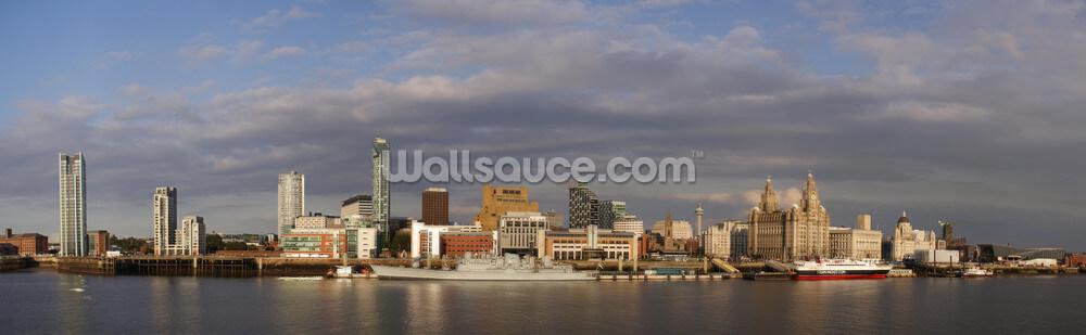 Liverpool Skyline Wallpaper Wallpaper Mural Wallsauce Uk