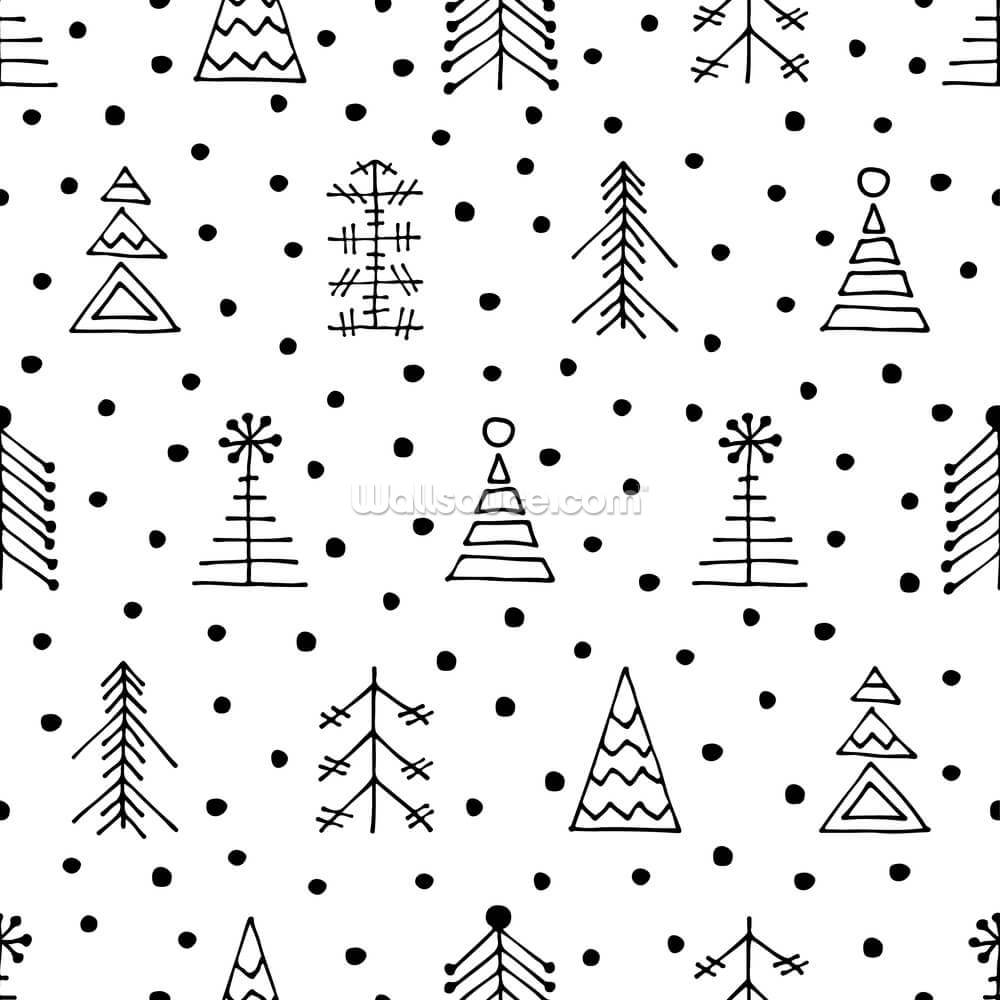 Snowflake Christmas Wallpaper Mural Wallsauce Us