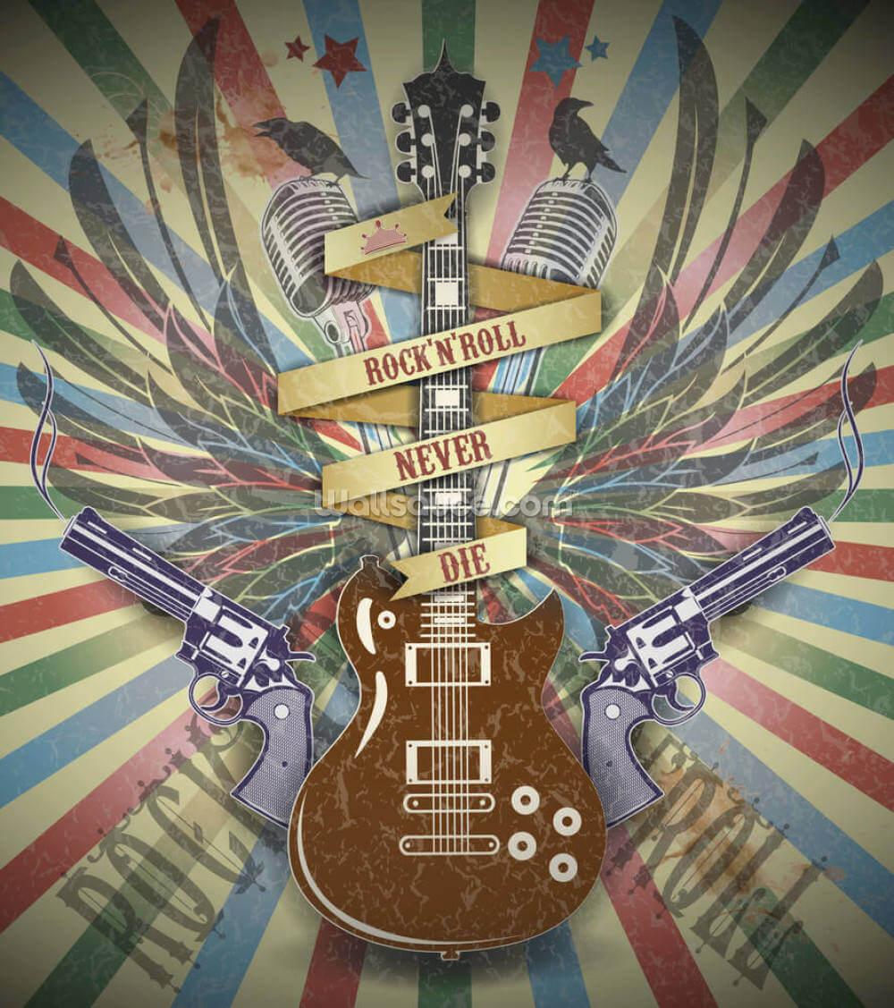 Rock N Roll Wallpaper Wallsauce Us