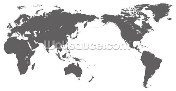 Cartina Geografica Del Mondo In Bianco E Nero.Carta Geografica Del Mondo Grigio Wallsauce It