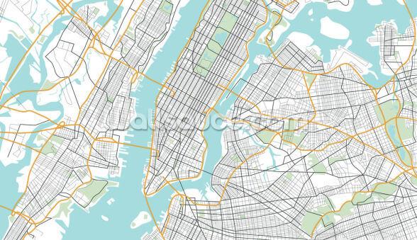 New York City Map Kuvatapetti Wallsauce Fi