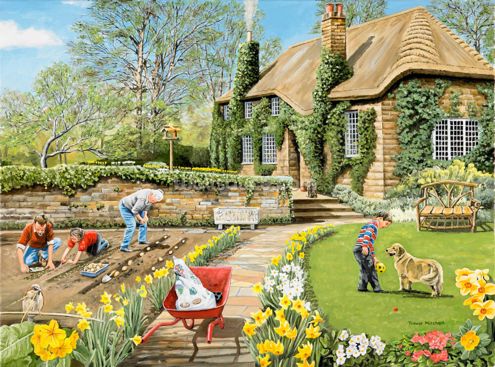 A Spring Garden Wall Mural Wallsauce Us