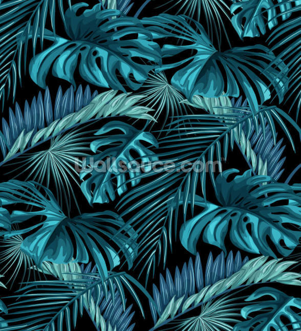 Tropical Leaves Wallpaper Mural Wallsauce Us Sign up for free and download 15 free images every day! tropical leaves