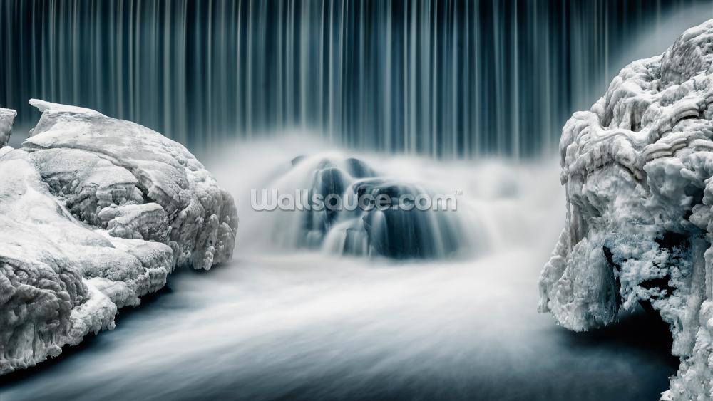 Icy Falls Wallpaper Wallsauce Nz