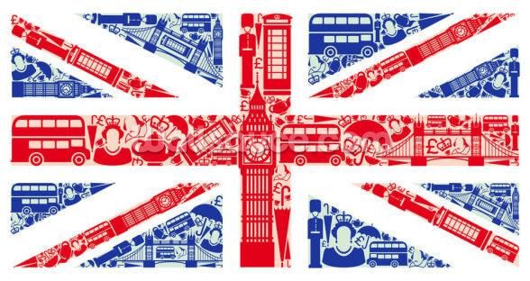 Union Jack Montage Hintergrundbild | Wallsauce DE