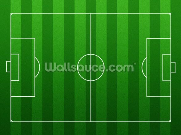 Football Pitch Wall Mural Wallpaper: Football Pitch Wall Mural