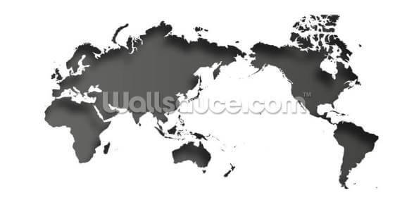 Fond D Ecran De La Carte Du Monde En Noir Et Blanc Wallsauce Fr