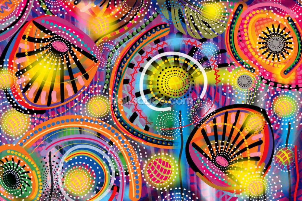 Colourful Tribal Pattern Wallpaper | Wallsauce CA