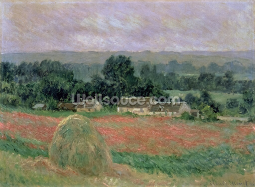 Haystack at Giverny, 1886 (oil on canvas) Wallpaper Wall Murals