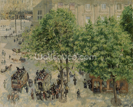 Place du Theatre-Francais, Spring, 1898 Wallpaper Wall Murals