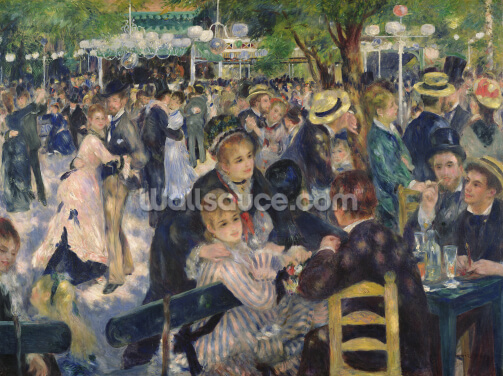 Ball at the Moulin de la Galette, 1876 (oil on canvas) Wallpaper Wall Murals