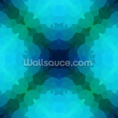 Shades of Blue and Green Wallpaper Wall Murals