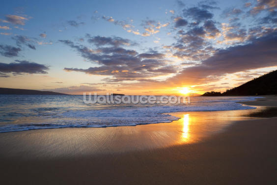 Maui Beach Sunset Wallpaper Wall Murals