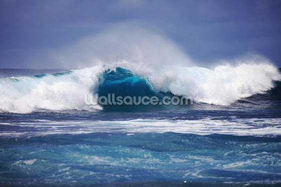 Hawaii, Oahu, Beautiful Wave Breaking Wallpaper Wall Murals