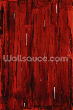 Rain - Abstract Painting In Red And Black Wallpaper Wall Murals