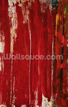 Red Study 1 - Abstract Painting In Red Wallpaper Wall Murals