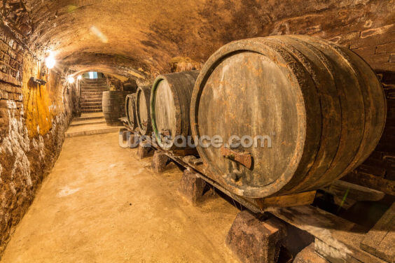 Old Wine Barrels Wallpaper Wall Murals