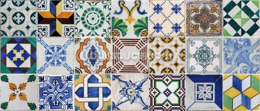 Moroccan Tiles Wallpaper Wall Murals