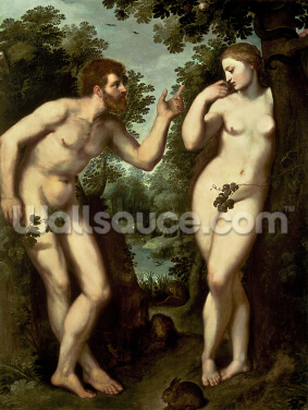 Adam and Eve, c.1599 (oil on panel) Wallpaper Wall Murals