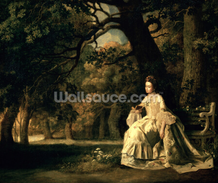Lady reading in a Park, c.1768-70 Wallpaper Wall Murals