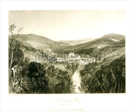 Buckfastleigh Abbey, Devon, c.1826 (litho) Wallpaper Wall Murals