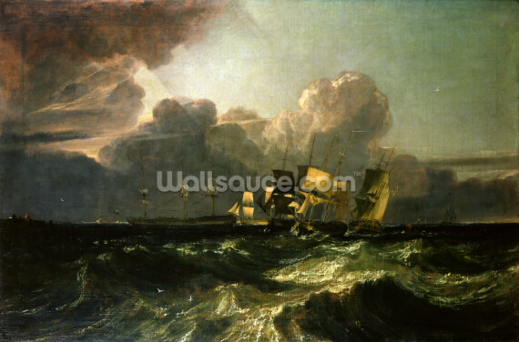 Ships Bearing up for Anchorage (The Egremont Sea Piece), 1802 Wallpaper Wall Murals