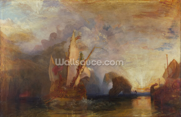 Ulysses Deriding Polyphemus, 1829 (oil on canvas) (for detail see 99614) Wallpaper Wall Murals