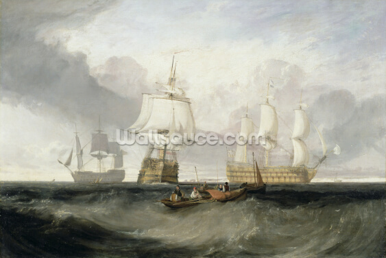 The Victory Returning from Trafalgar, 1806 (oil on canvas) Wallpaper Wall Murals