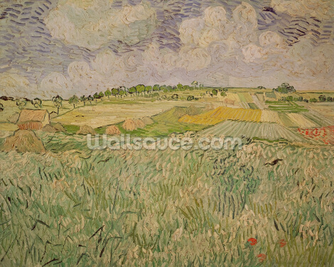 The Plain at Auvers, 1890 (oil on canvas) Wallpaper Wall Murals