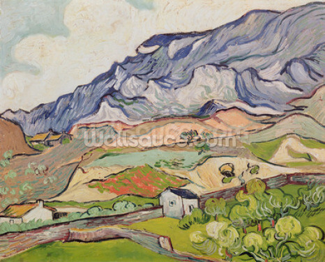 The Alpilles, 1890 (oil on canvas) Wallpaper Wall Murals