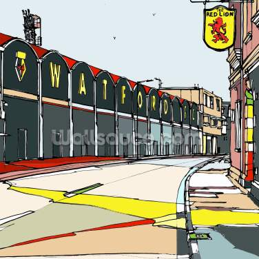 Vicarage Road Wallpaper Wall Murals