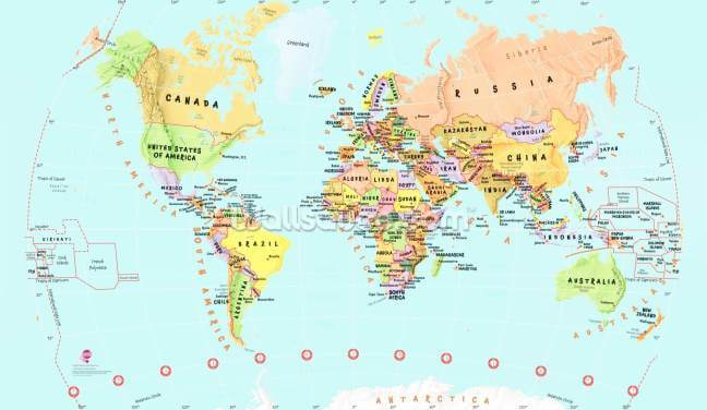 Childrens World Map Wallpaper Wall Murals