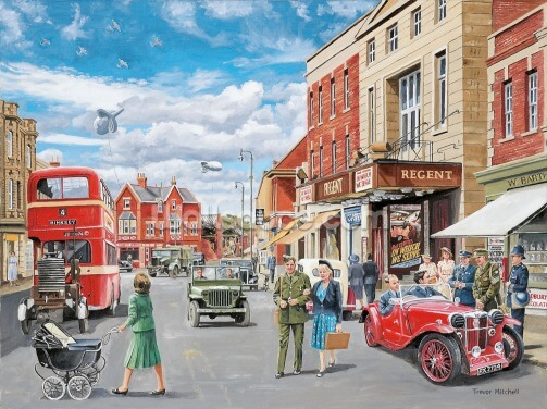 40's Scene Wallpaper Wall Murals