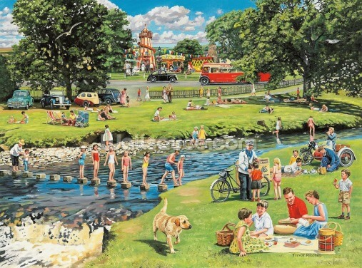 At the Picnic Spot Wallpaper Wall Murals