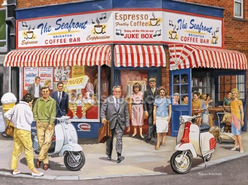 Brighton Cafe Exterior Wallpaper Wall Murals