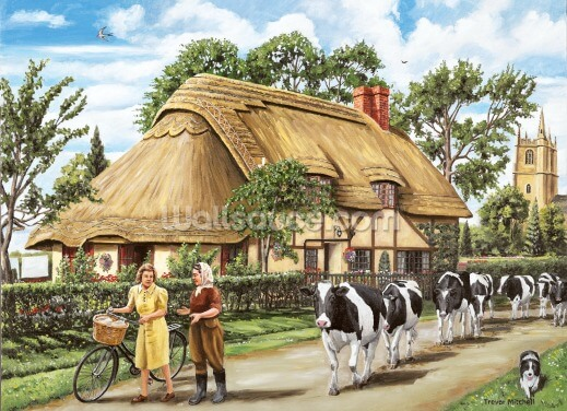 Milking Time Wallpaper Wall Murals