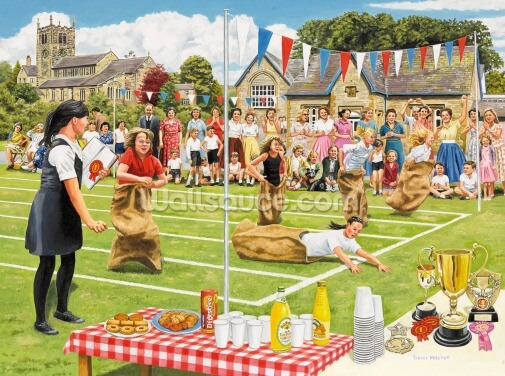 School Sports Day Wallpaper Wall Murals