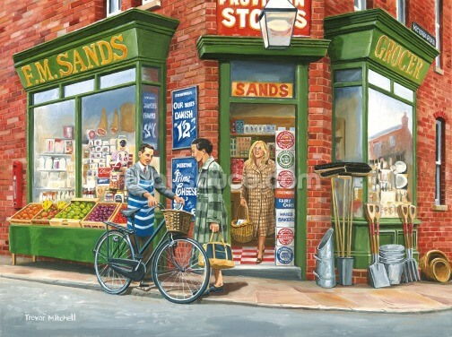 The Corner Shop Wallpaper Wall Murals
