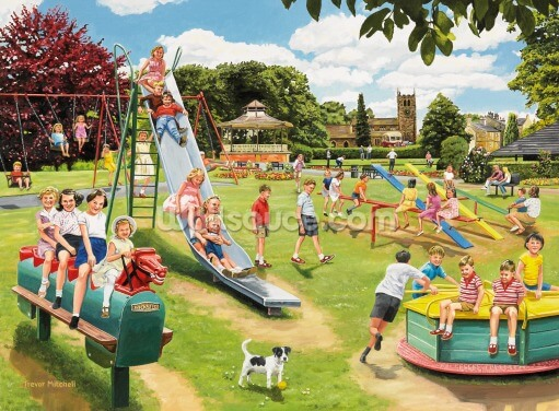 The Park Playground Wallpaper Wall Murals