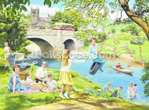 The Riverbank Wallpaper Wall Murals