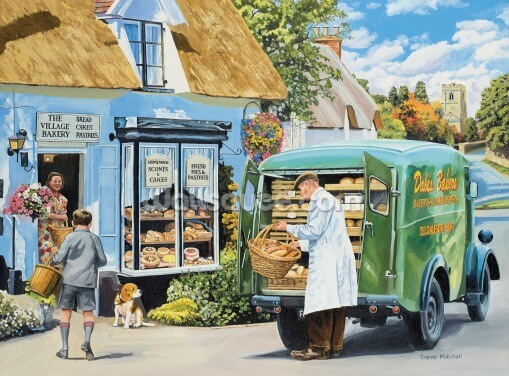 The Village Bakery Wallpaper Wall Murals
