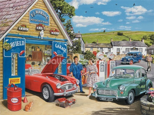 The Village Garage by Trevor Mitchell Wallpaper Wall Murals