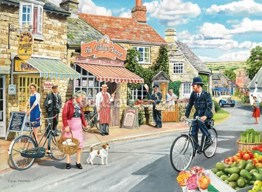 The Village High Street Wallpaper Wall Murals